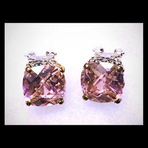 Jewelry - Pink Crystal Studs